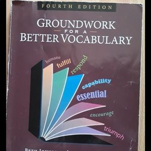 Groundwork for better vocabulary- 4th edition